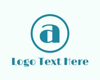 Art Deco - Round  Letter A logo design