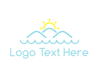 Florida - Ocean & Mountains logo design