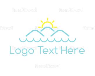 Water - Ocean & Mountains logo design