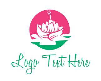 Feminine Wash - Pink Beauty Flower logo design