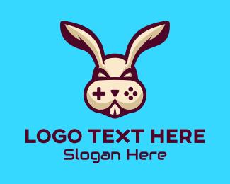 Bunny - Bunny Game Control logo design