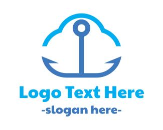 Driver - Anchor Cloud logo design
