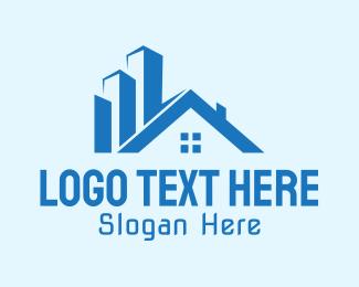 House - Urban Residential Building  logo design