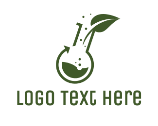 Bio Lab - Green Laboratory Leaf logo design