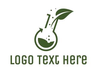 Green Leaf - Green Laboratory Leaf logo design