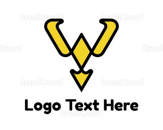 Collar - Yellow Collar Y Outline logo design