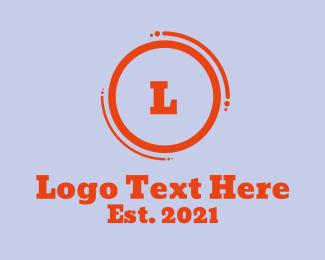 Daycare - Orange Bold Letter logo design