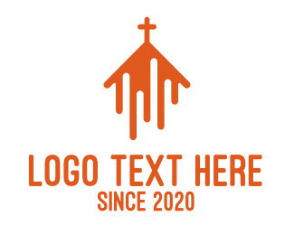 Bible Study - Abstract Orange Chapel logo design