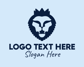 Fangs - Blue Lion logo design