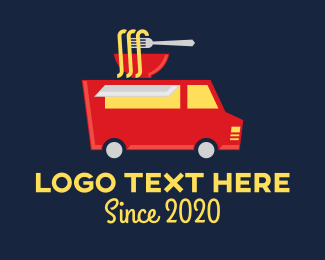 Chinese Food - Noodle Food Truck Delivery logo design