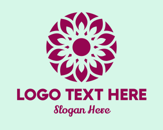 Flower Stand - Organic Purple Flower logo design