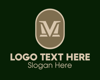 Mv - Elegant VM  logo design