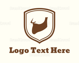 Barber Shop - Beard Emblem logo design