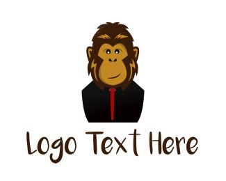 Darwin - Stylish Monkey logo design