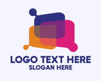 Live Chat - Colorful Message Bubble logo design
