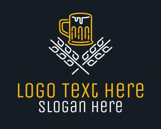 Microbrewery - Beer Brewery Monoline logo design