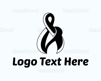 Ampersand - Black Ampersand logo design