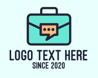 Business Solutions - Business Briefcase Chat logo design