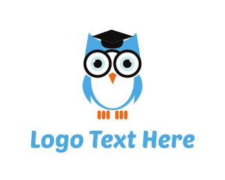Scholarship - Owl Graduation logo design