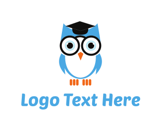 College - Owl Graduation logo design