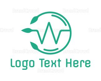 Bio Tech - Round Modern W  logo design