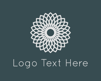 Elegance - White Flower logo design