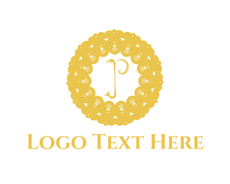 Caviar - Floral Letter P logo design