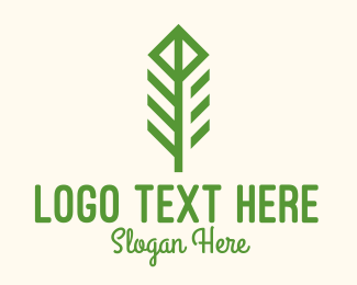 Outdoors - Green Flower Stalk logo design