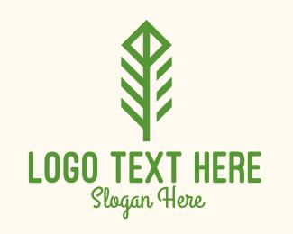 Produce - Green Flower Stalk logo design