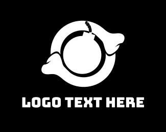 Orthopedic - Skeleton Bomb logo design