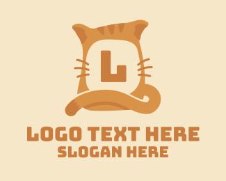 Animal Park - Ginger Tabby Cat Lettermark logo design