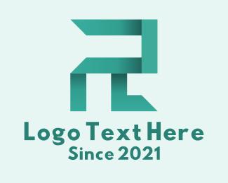 Twitch - Green Gradient Letter R  logo design