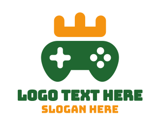 Green Crown - Green Controller Crown logo design