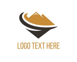 Alps - Brown Mountain logo design