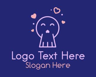 Hearts - Love Ghost logo design
