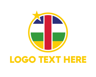 Air Travel - Central African Flag logo design