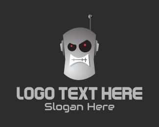 Fortnite - Angry Robot Head logo design