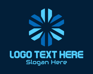 App Development - Technology Snowflake logo design
