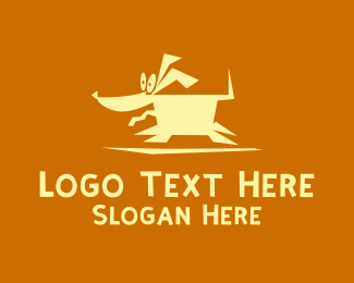 Running - Crazy Running Dog logo design