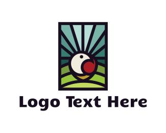 Peace - Dove & Landscape logo design