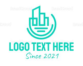 Interior Designer - Modern Geometric City logo design