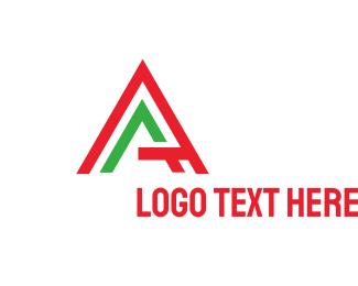 Lettermark A - Red & Green Letter A logo design