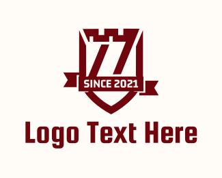 Security - Turret Shield Banner logo design