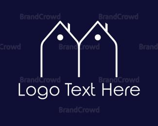 Duo - Twin Houses logo design