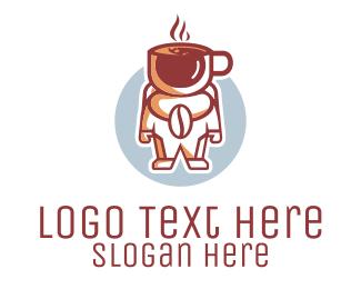 Cosmonaut - Coffee Astronaut Cafe logo design