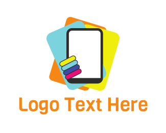 Cell Phone - Colorful Tablets logo design