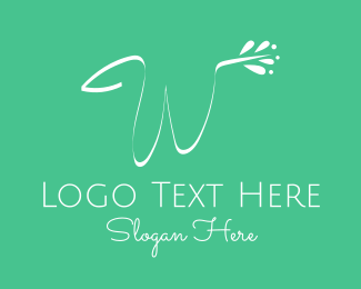 Haircare - White Floral Letter W logo design