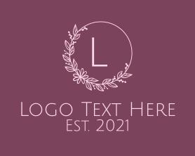 Brand - Floral Wreath Letter logo design