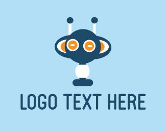 Martian - Blue Monster logo design