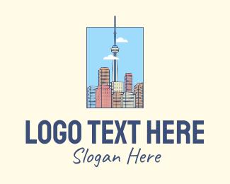 High Rise - Toronto City Tower logo design